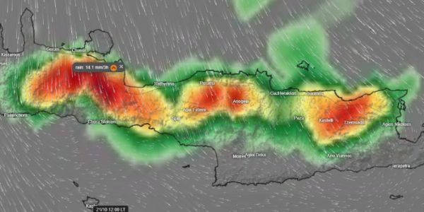 Μεγάλη προσοχή στα ορεινά της Κρήτης – Ραγδαίες βροχές για ένα 24ωρο (φωτο χάρτες) - Ειδήσεις Pancreta