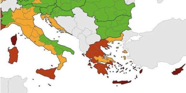 Το ECDC «κοκκίνισε» την Ελλάδα και κυρίως τις τουριστικές «ναυαρχίδες» - Ειδήσεις Pancreta