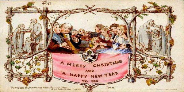 Η πρώτη ευχετήρια κάρτα που σχεδιάστηκε για τα Χριστούγεννα - Ειδήσεις Pancreta