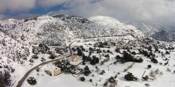 Drone αιχμαλωτίζει σε εικόνες τη χιονισμένη Κρήτη - Ειδήσεις Pancreta