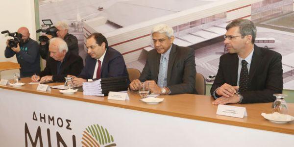 Υπογράφηκε η σύμβαση για το νέο αεροδρόμιο - Στο Καστέλι ο Χρ. Σπίρτζης (Φωτο)