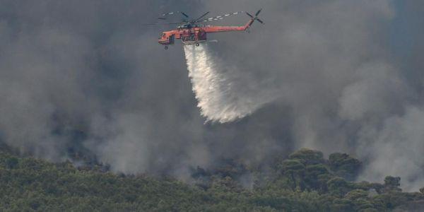 Πυρκαγιά στον Άγιο Νικόλαο - Επιχειρούν 60 πυροσβέστες και δύο ελικόπτερα - Ειδήσεις Pancreta