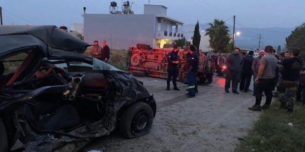 Θανατηφόρο τροχαίο στις Μοίρες - Νεκρή μια 37χρονη και η δίχρονη κόρη της - Ειδήσεις Pancreta